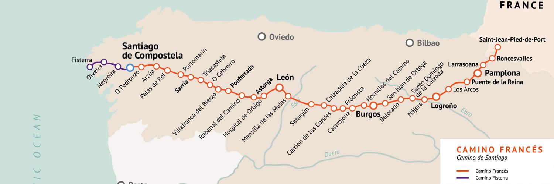 Jakobsweg Spanien Karte.Jakobsweg Pilgerreisen Abenteuerwege Reisen
