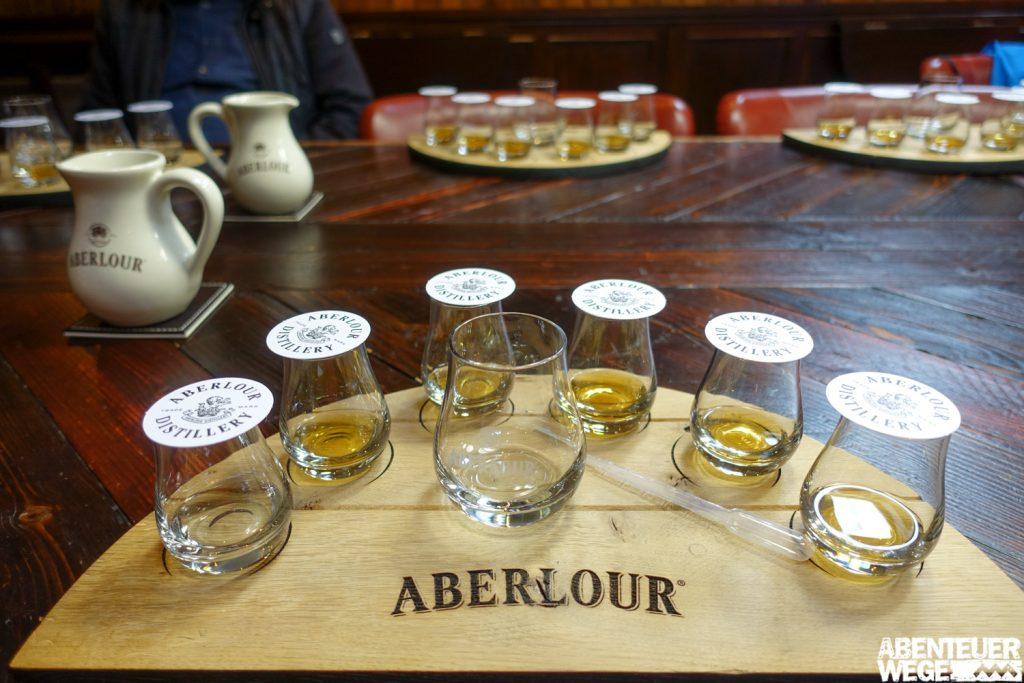 Whiskytasting in der Aberlour Destillerie