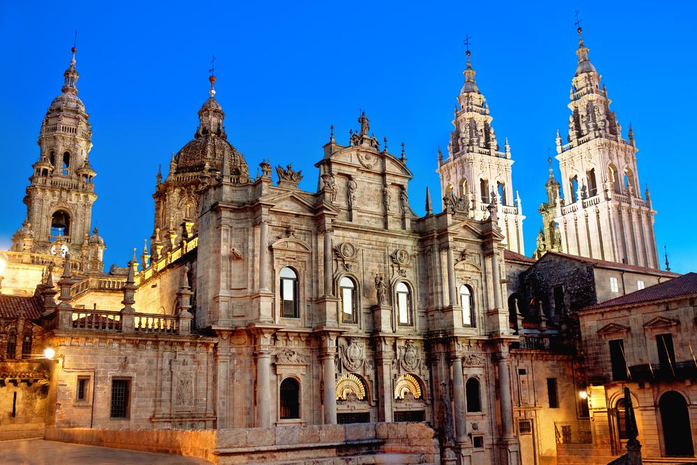 Außenansicht der Kathedrale in Santiago de Compostela
