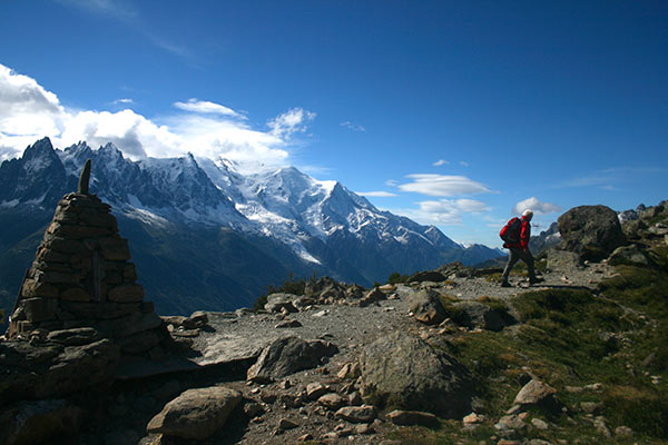 Neil Wandert auf der Tour du Mont Blanc
