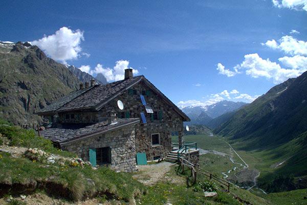 Hütte auf der Tour du Mont Blanc