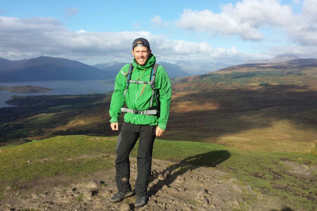 Michael auf dem West Highland Way