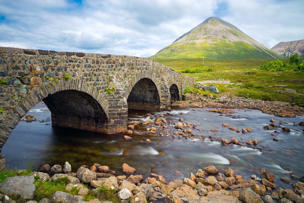 Wunderschöne Landschaft der Isle of Skye, Schottland