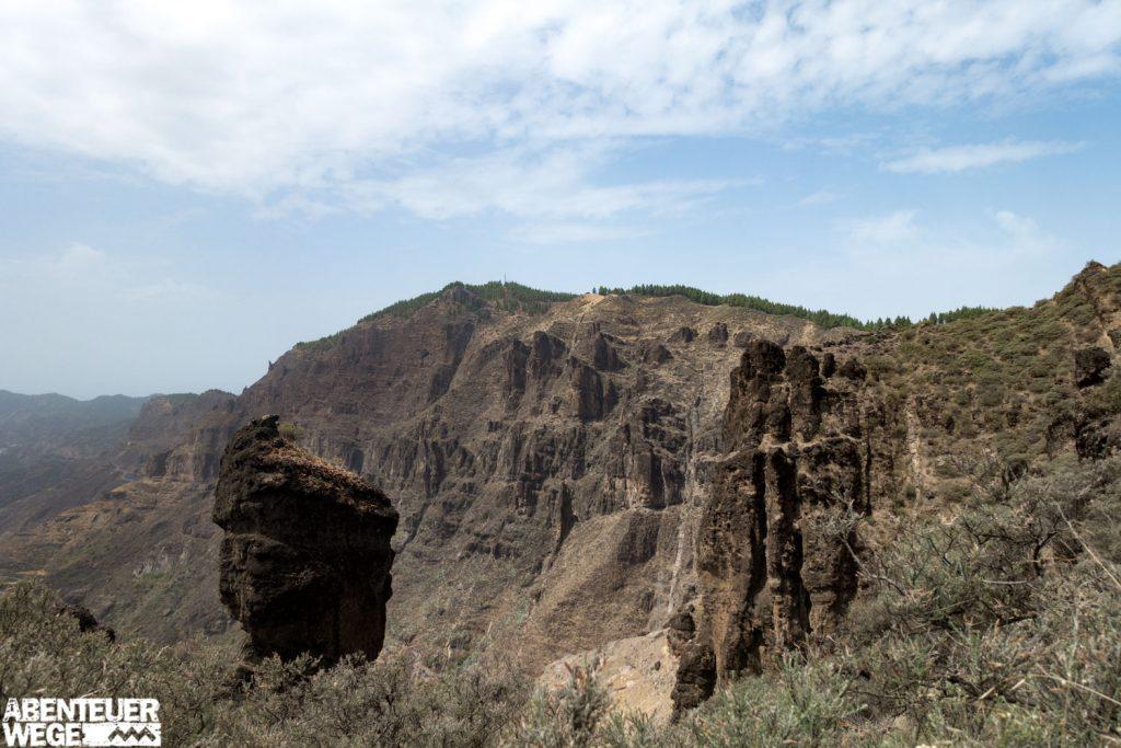 Wanderung-von-Agaete-nach-Tejeda_Berge_Aussicht auf die Berge Gran Canarias.