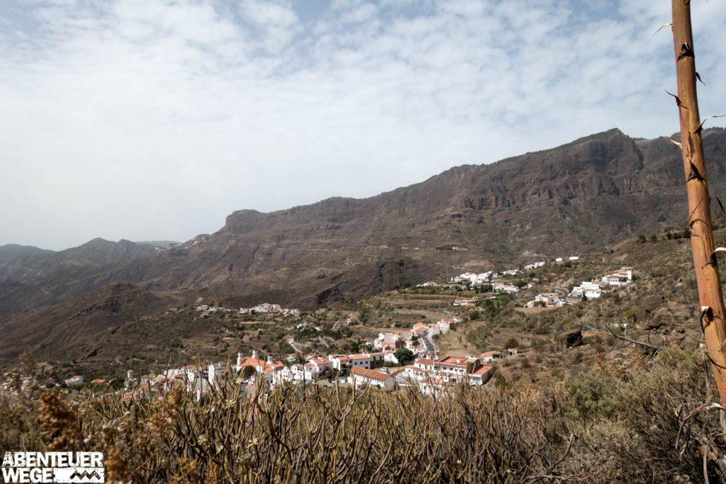 Bergdorf Gran Canarias auf der Wanderung von Agaete nach Tejeda.