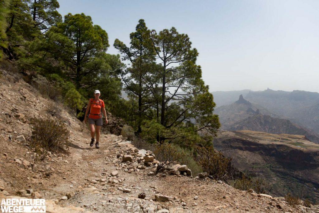 Wanderer auf den Wanderpfaden bei Tejeda, Gran Canarias m