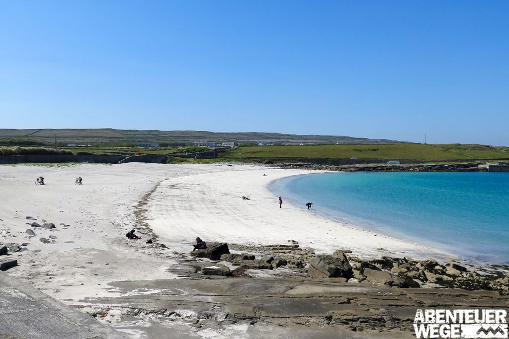 Kilmurvey Beach auf den Aran Islands in der Galway Bay vor Irland