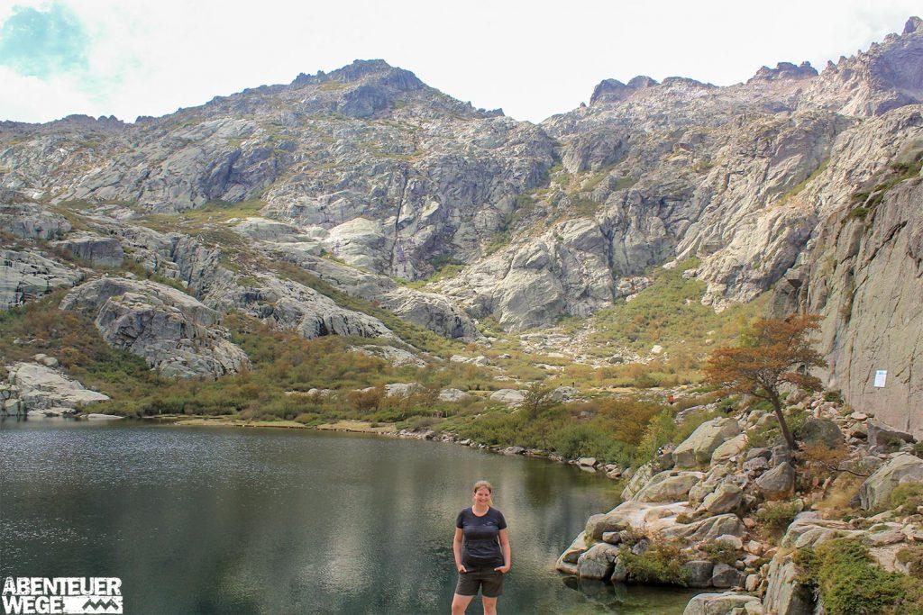 Lac Melo in der Restonica-Schlucht auf Korsika.