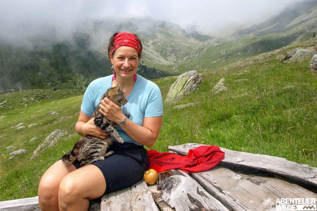 Wanderpause in den Bergen Südtirols: Ultental