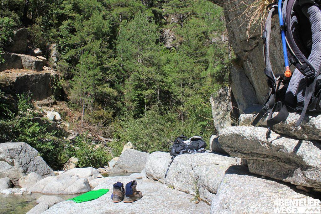 Naturpools in der Tavignano-Schlucht, Korsika