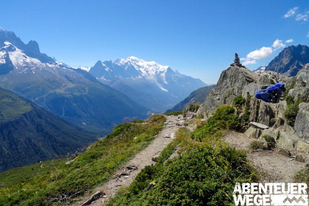 Ausblick auf der Tour du Mont Blanc, Frankreich