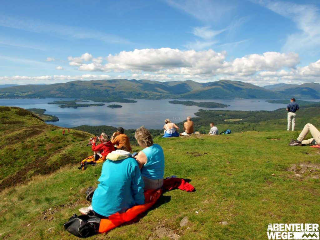 Pause auf Conic Hill am West Highland Way